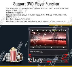 Voiture 1-din DVD CD Bluetooth Stéréo Avec 7 Écran Tactile Motorisé Flip Out Gps Navi
