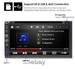 Voiture Stereo Bluetooth Radio Double 2 Din 7 Lecteur CD DVD Aux Avec Caméra De Sauvegarde