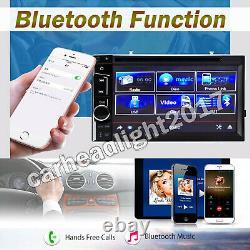 Voiture Stéréo Bluetooth Radio Double 2din DVD Player Camera Mirror Link For Gps Nav