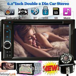 Voiture Stereo CD DVD Player Double 2din Fm Mirror Link For Gps Navigation With Camera