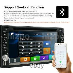 Voiture Stereo Gps Navi Bluetooth Radio Double 2 Din 6.2 Lecteur CD DVD Avec Caméra