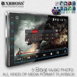 Xrross Android 8.0 Autoradio Gps Wi-fi Pour Lecteur Audio De Voiture Double Din 4 Go + 16 Go