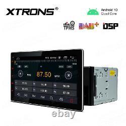 Xtrons 10.1 Double Din Voiture Stéréo Gps Android 10.0 4 Core Obd2 Dab Rca Dsp +obd