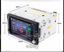 Zone Double 2din Dans Dash 6.2 DVD Voiture Lecteur Stéréo Radio Navigation Gps Bt + Camera